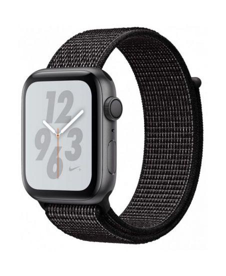 Apple Watch Nike+ Series 4 44 мм, корпус из алюминия цвета серый космос, спортивный браслет Nike черного цвета