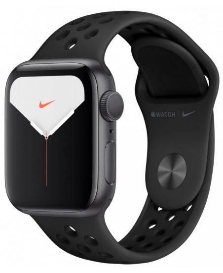 Apple Watch Nike+ Series 5, 40 мм, корпус из алюминия цвета «серый космос», спортивный ремешок Nike цвета антрацитовый/черный (серый космос)