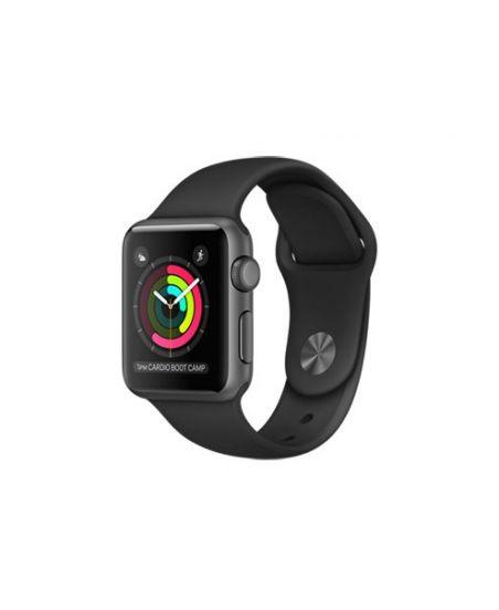 Apple Watch Series 1, 38 мм, корпус из алюминия, цвета «серый космос», спортивный ремешок чёрного цвета