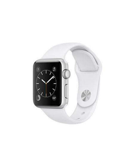 Apple Watch Series 1, 38 мм, корпус из серебристого алюминия, спортивный ремешок белого цвета
