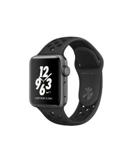 Apple Watch Nike+ 38 мм, корпус из алюминия цвета «серый космос», спортивный ремешок Nike цвета «антрацитовый/чёрный»