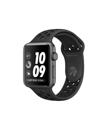 Apple Watch Nike+ 42 мм, корпус из алюминия цвета «серый космос», спортивный ремешок Nike цвета «антрацитовый/чёрный»
