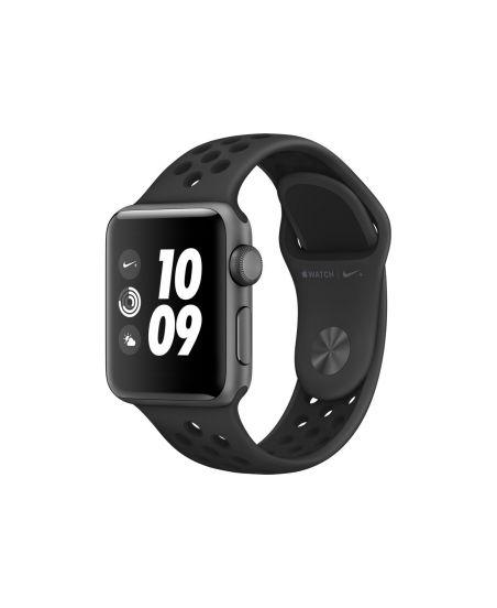 Apple Watch Nike+ Series 3, 38 мм, корпус из алюминия цвета «серый космос», спортивный ремешок Nike цвета «антрацитовый/чёрный»