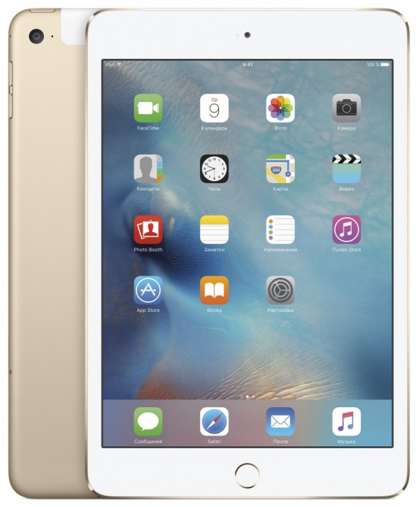 Apple iPad mini 4 Wi-Fi + Cellular 128GB (золотой)